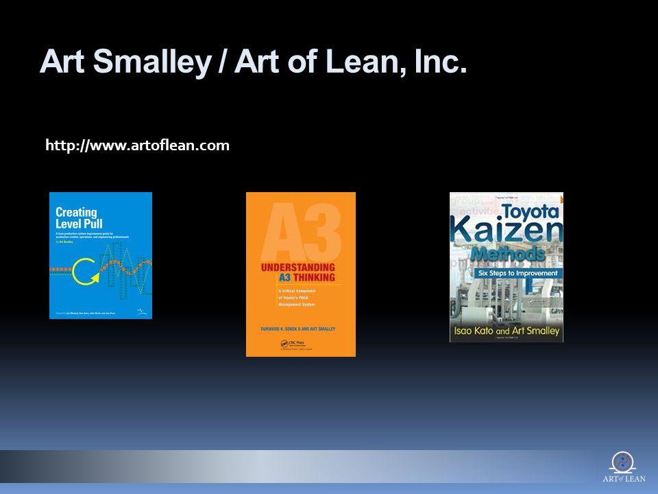 Art Smalley / Art of Lean, Inc. http://www.artoflean.com
