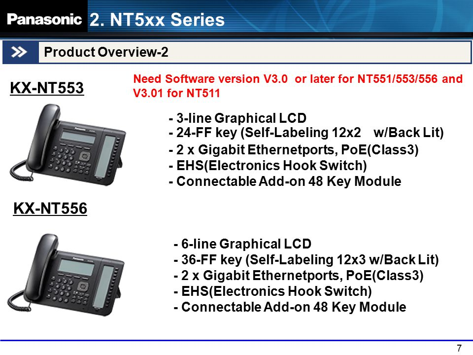 7 Product Overview-2 KX-NT553 2.