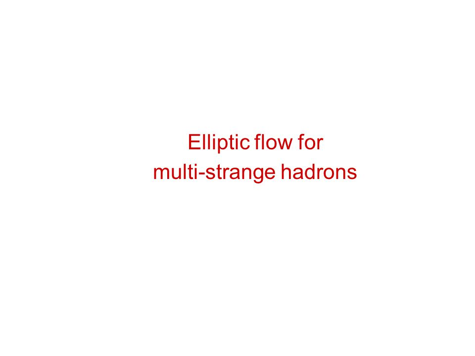 Elliptic flow for multi-strange hadrons
