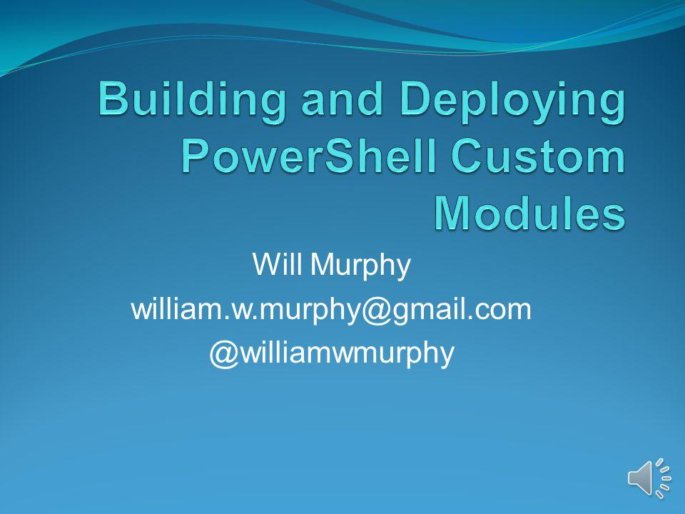 Will Murphy william.w.murphy@gmail.com @williamwmurphy