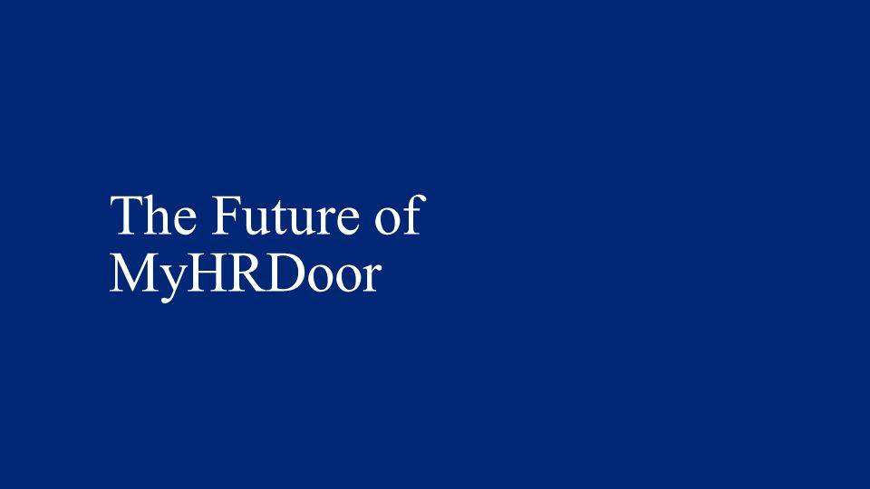 The Future of MyHRDoor