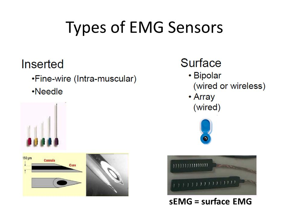 Types of EMG Sensors sEMG = surface EMG