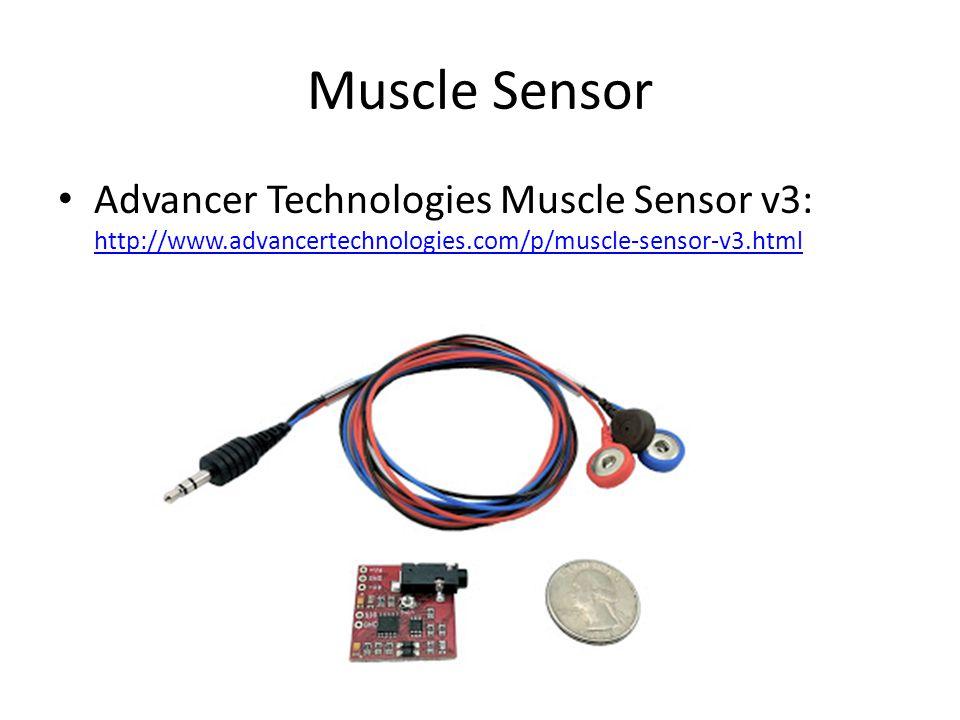 Muscle Sensor Advancer Technologies Muscle Sensor v3: http://www.advancertechnologies.com/p/muscle-sensor-v3.html http://www.advancertechnologies.com/