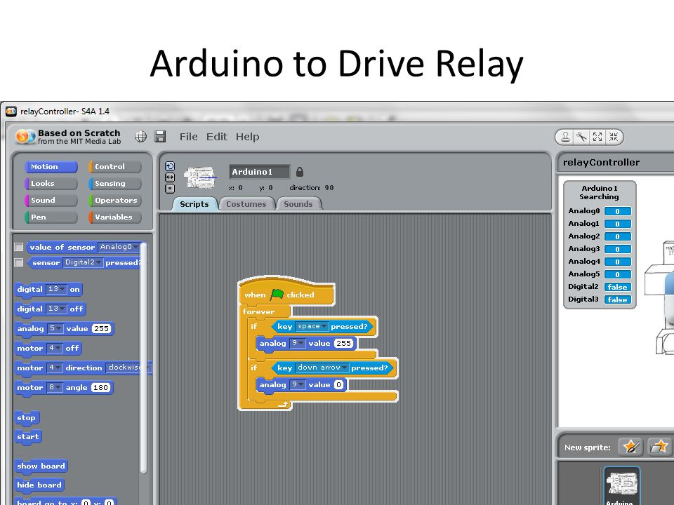 Arduino to Drive Relay