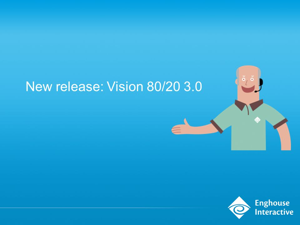 New release: Vision 80/20 3.0