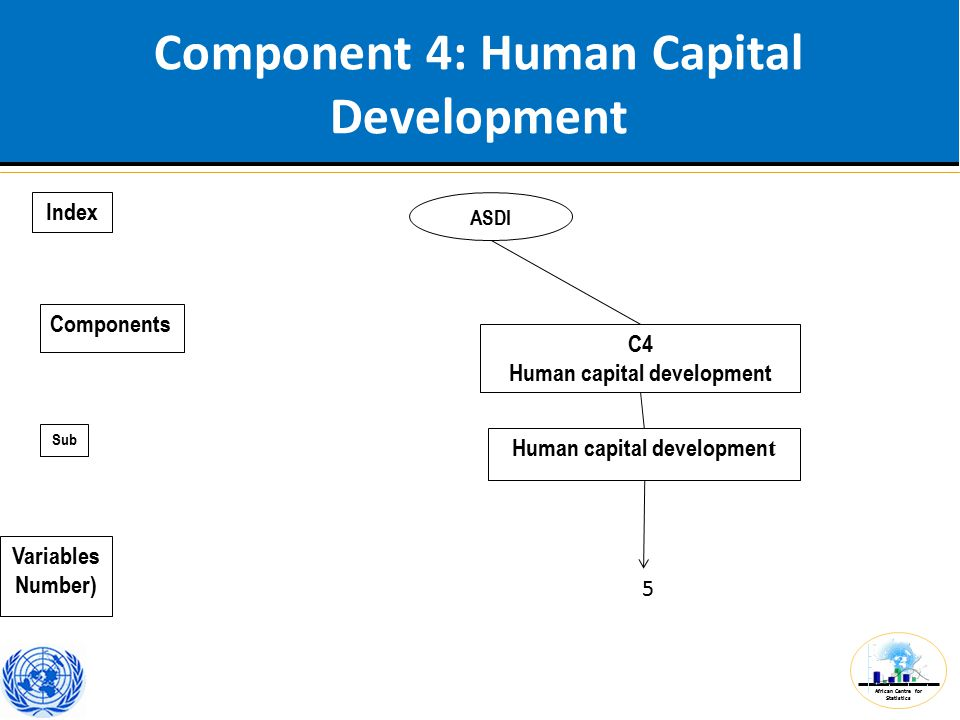 African Centre for Statistics Component 5: Funding ASDI C5 Funding 3 Index Components Sub Variables Number)