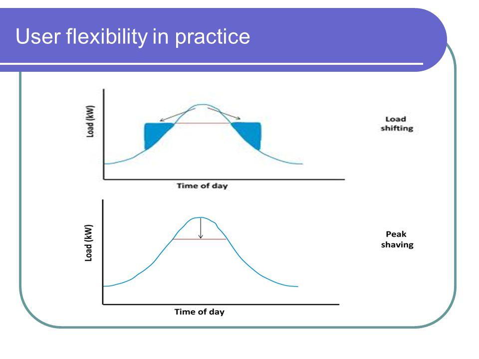 User flexibility in practice