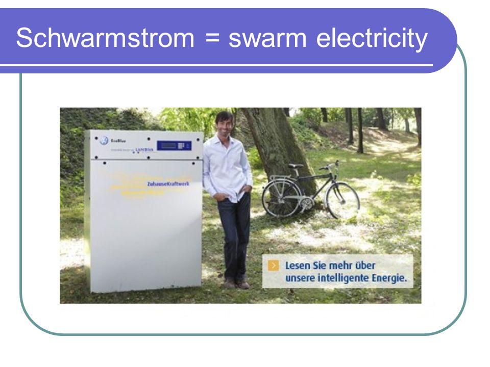 Schwarmstrom = swarm electricity