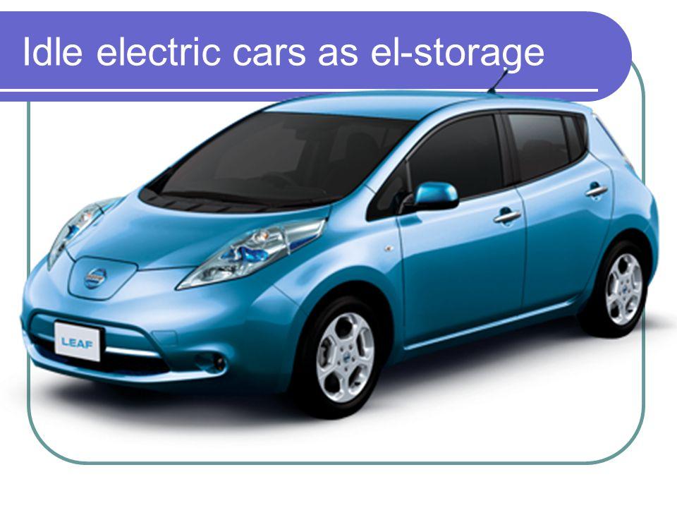 Idle electric cars as el-storage