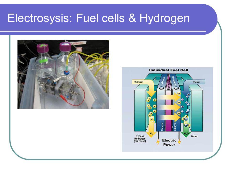 Electrosysis: Fuel cells & Hydrogen