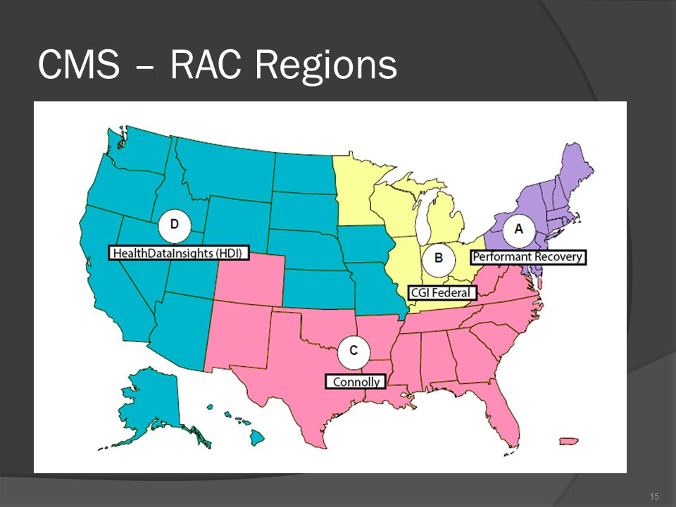 CMS – RAC Regions 15