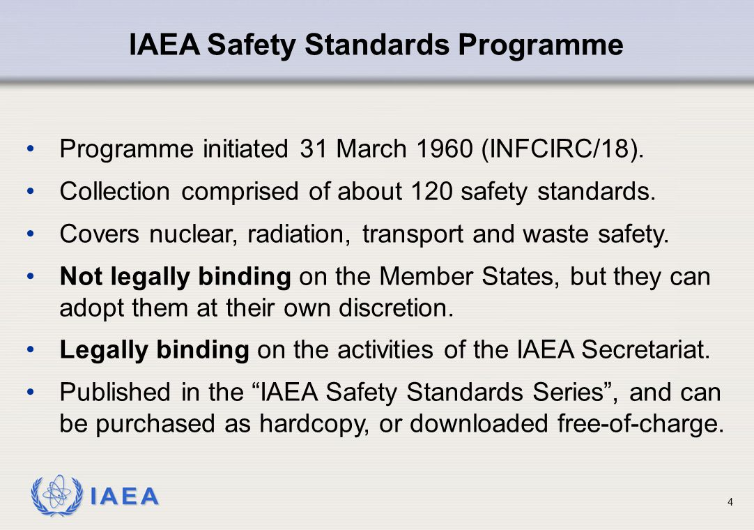 IAEA Radioactive material: Material designated in national law or by a regulatory body as being subject to regulatory control because of its radioactivity.