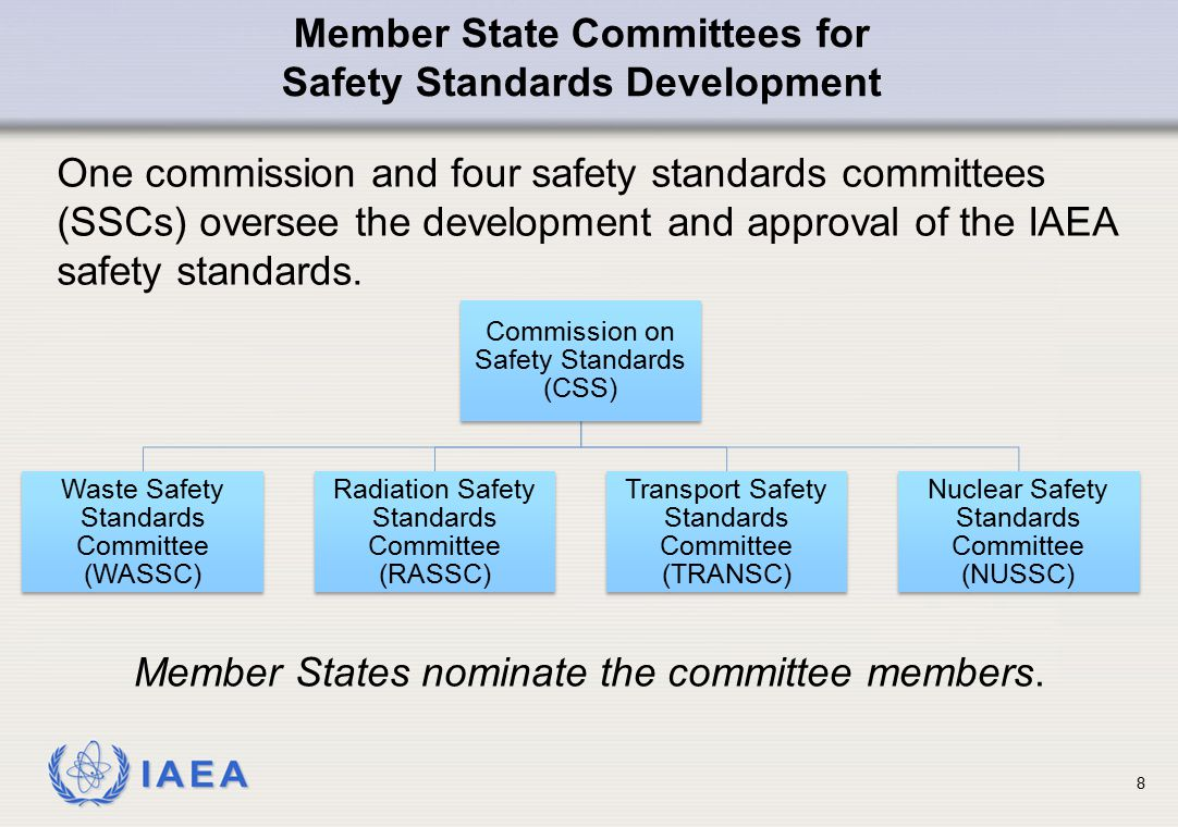 IAEA 19 The Joint Convention on the Safety of Spent Fuel Management and on the Safety of Radioactive Waste Management came into force 18 June 2001.