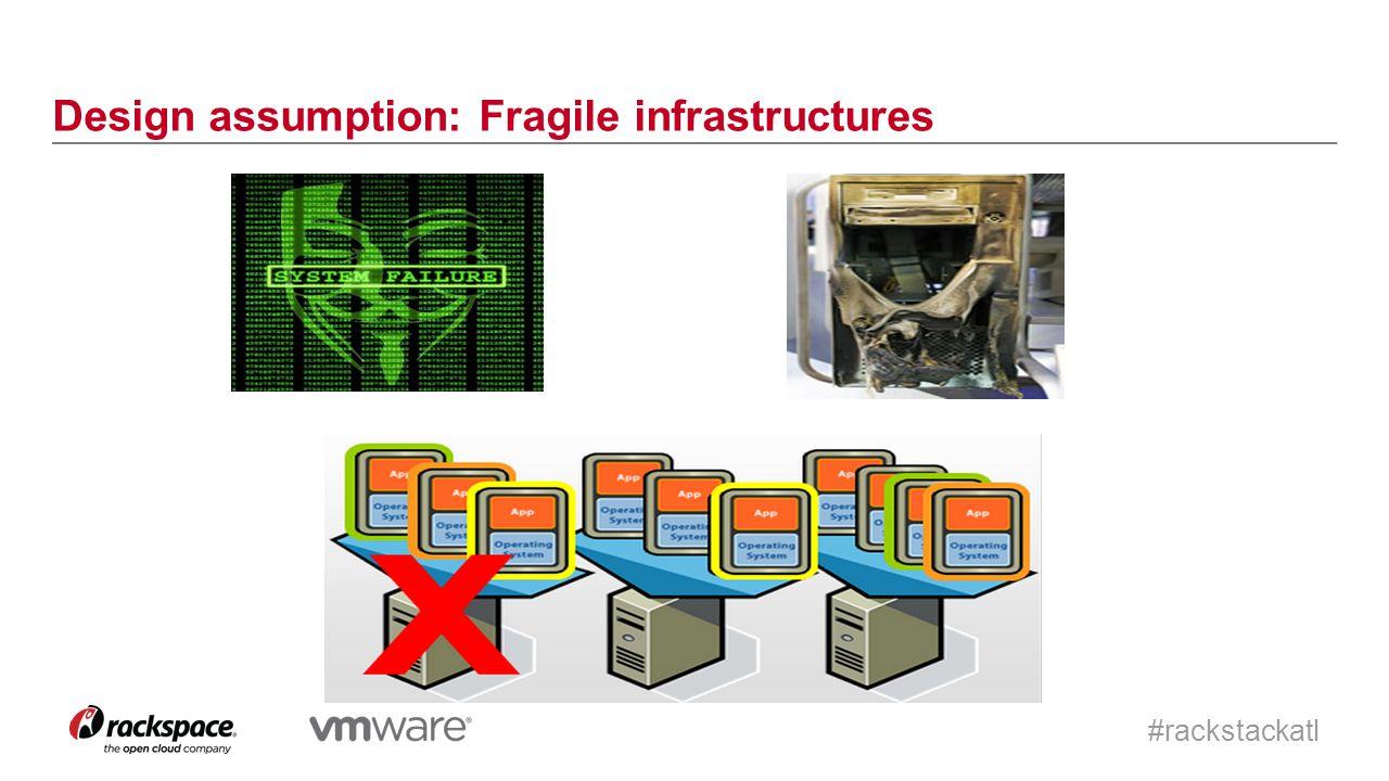 #rackstackatl Design assumption: Fragile infrastructures