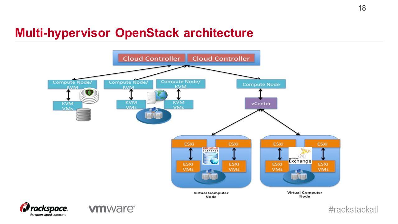 #rackstackatl 18 Multi-hypervisor OpenStack architecture