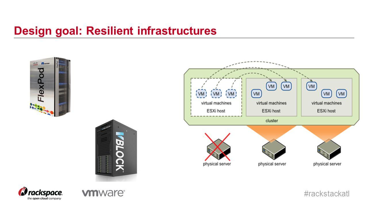 #rackstackatl Design goal: Resilient infrastructures