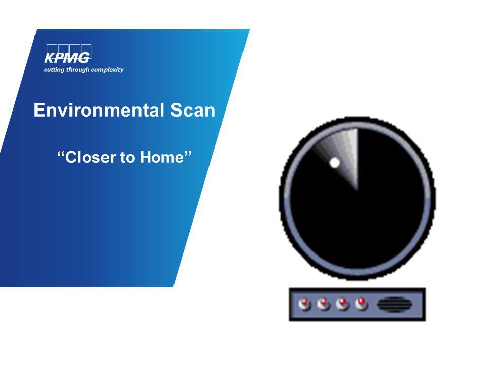"Environmental Scan ""Closer to Home"""