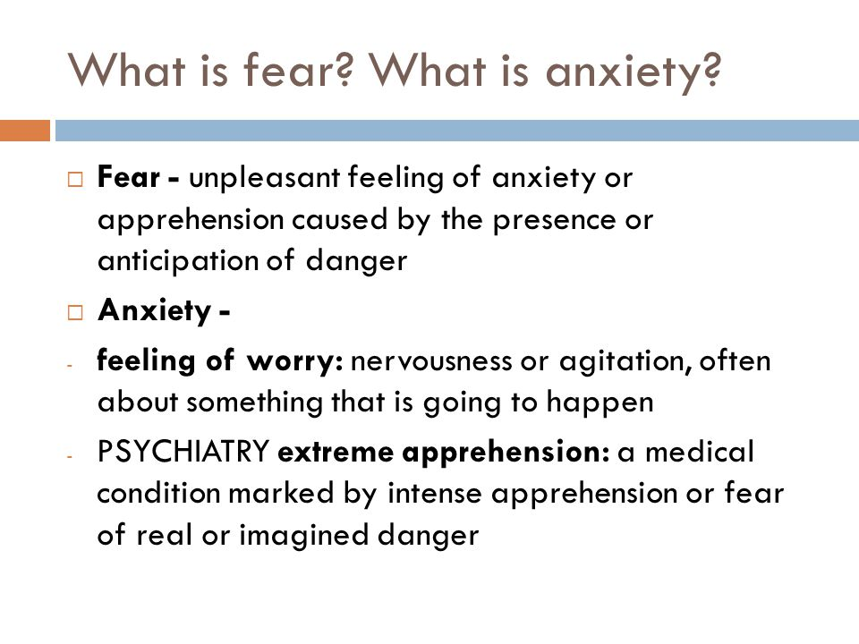 When does anxiety become a problem. All people experience anxiety at some time.