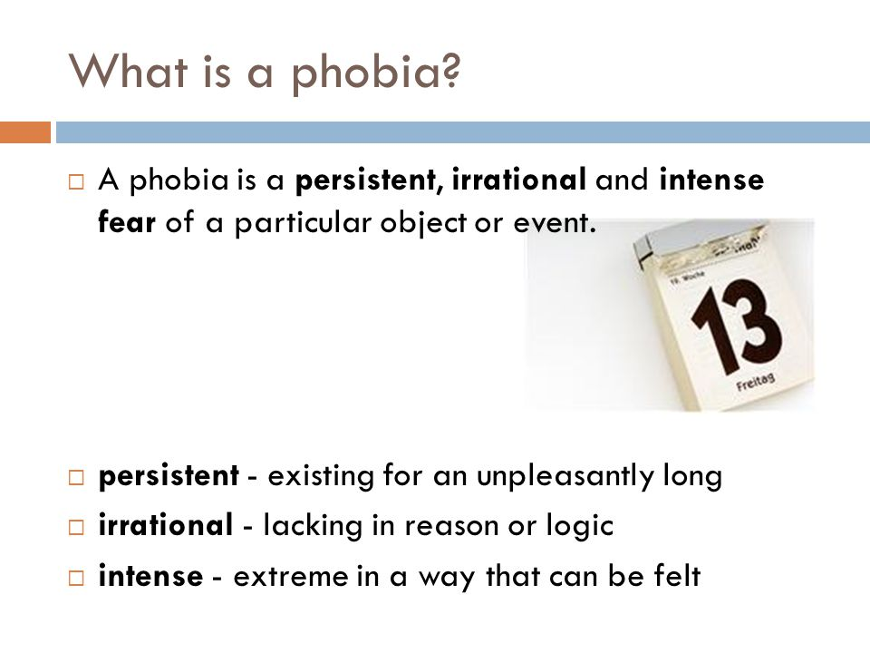 Treatments for simple phobias 1.