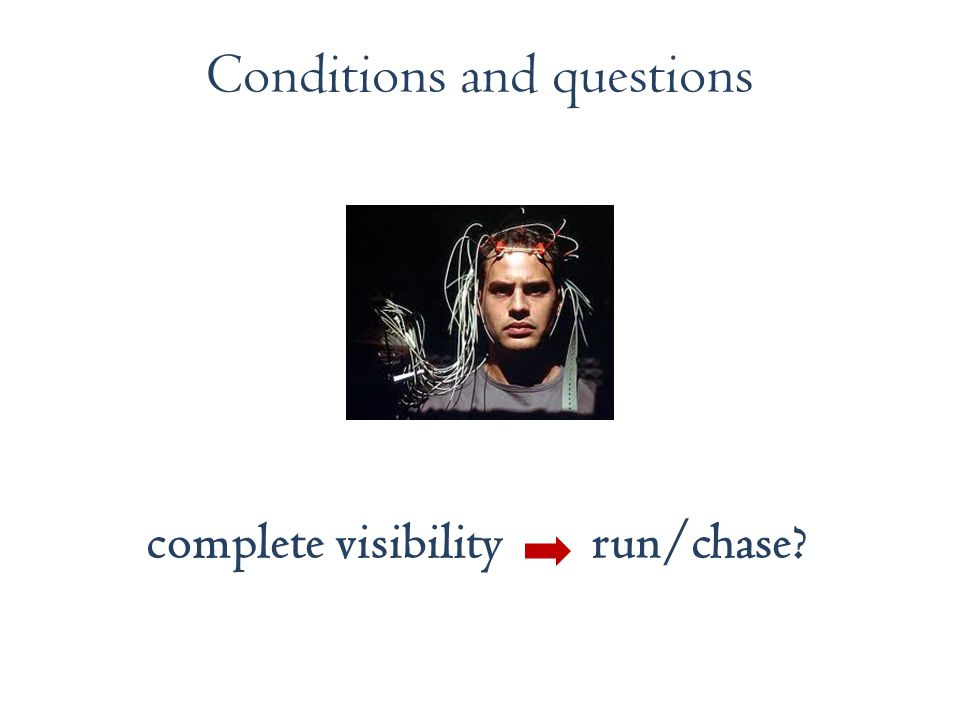 Conditions and questions complete visibility run/chase?