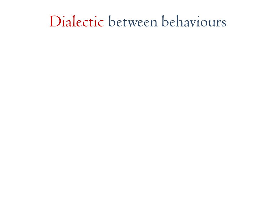 Dialectic between behaviours