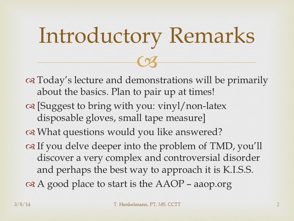   Today's lecture and demonstrations will be primarily about the basics. Plan to pair up at times!  [Suggest to bring with you: vinyl/non-latex dis