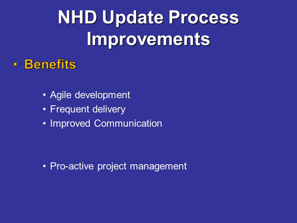 NHD Update Process Improvements