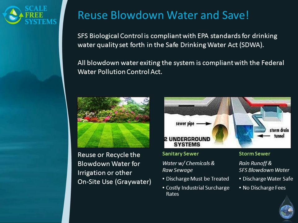 Reuse Blowdown Water and Save.