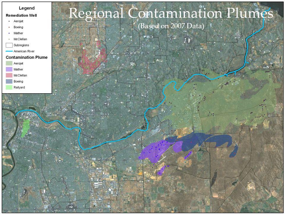 Regional Contamination Plumes (Based on 2007 Data)