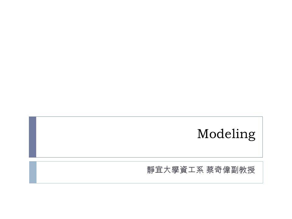 Modeling 靜宜大學資工系 蔡奇偉副教授