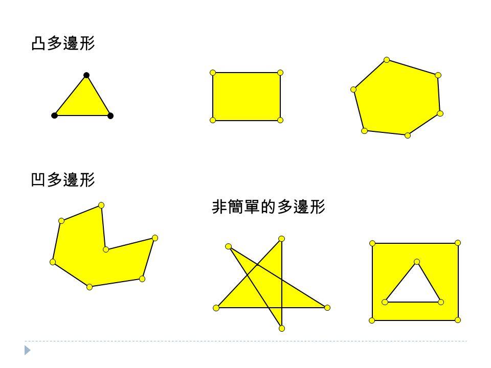 凸多邊形 凹多邊形 非簡單的多邊形