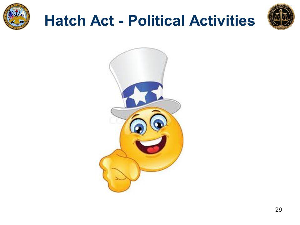 Hatch Act - Political Activities 29
