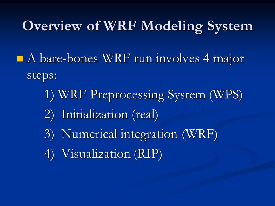 Final WPS/WRF/RIP Notes Clean up all files!!!.