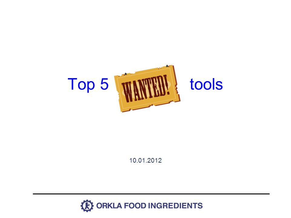 Top 5 tools 10.01.2012