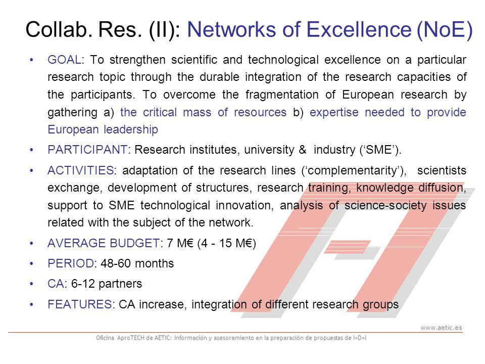 www.aetic.es Oficina AproTECH de AETIC: Información y asesoramiento en la preparación de propuestas de I+D+I GOAL: To strengthen scientific and techno