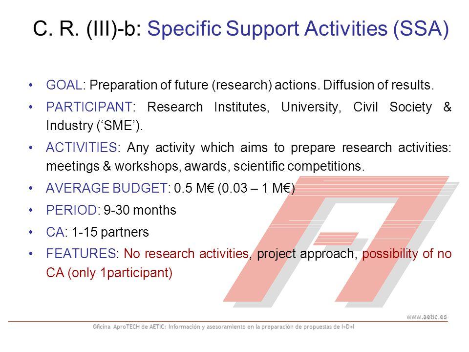 www.aetic.es Oficina AproTECH de AETIC: Información y asesoramiento en la preparación de propuestas de I+D+I GOAL: Preparation of future (research) ac