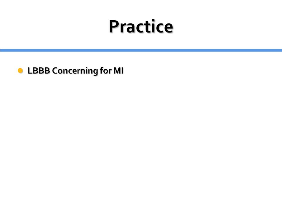 Practice LBBB Concerning for MI LBBB Concerning for MI