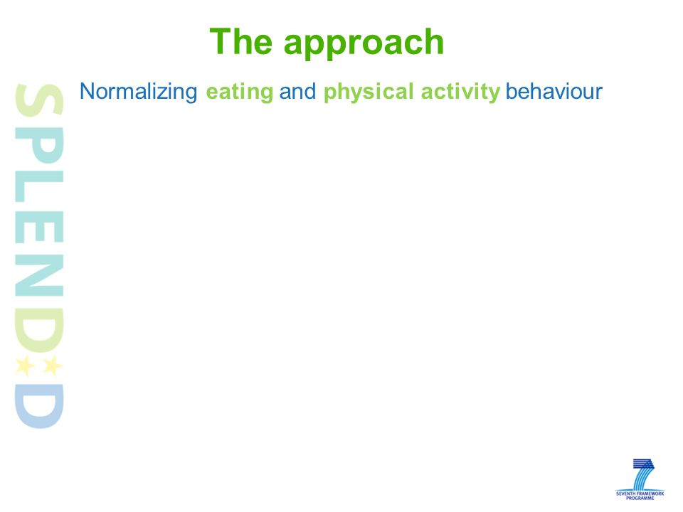 The approach Normalizing eating and physical activity behaviour
