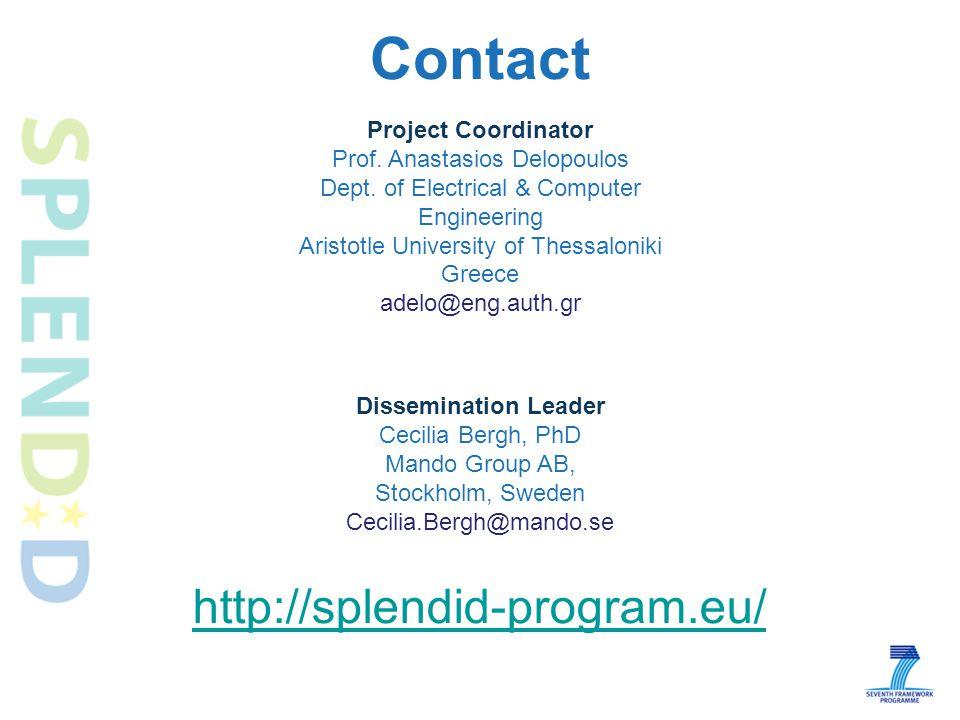 Contact http://splendid-program.eu/ Project Coordinator Prof.