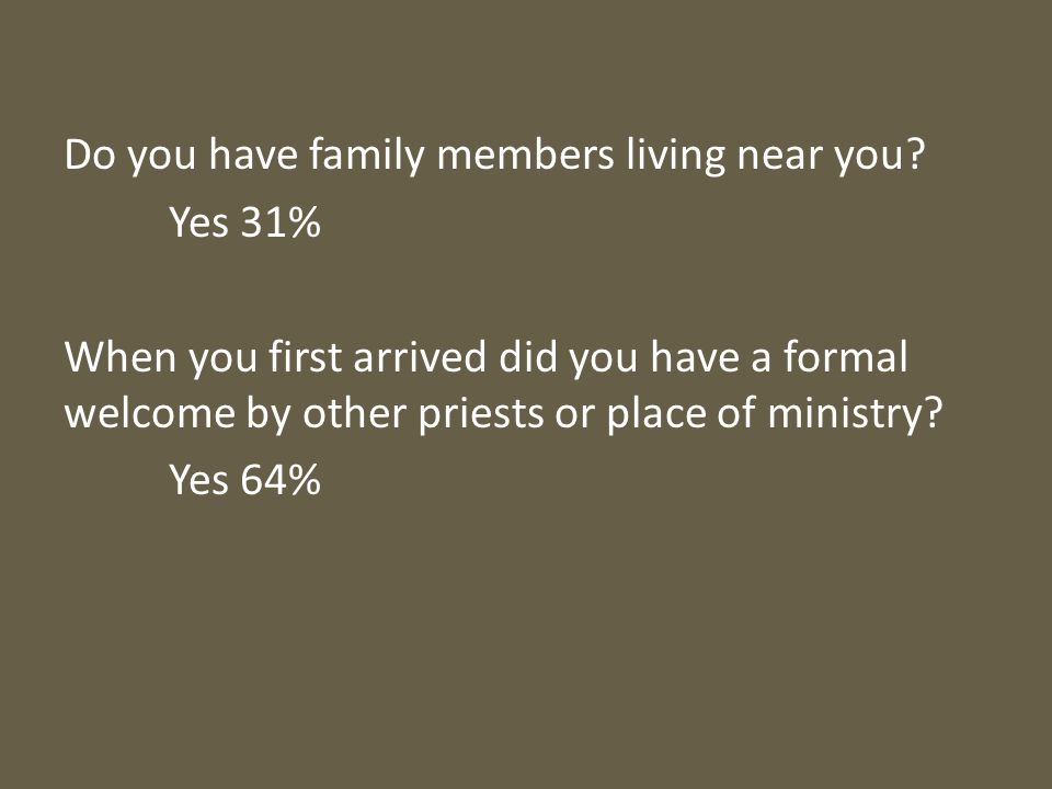 Do you have family members living near you.