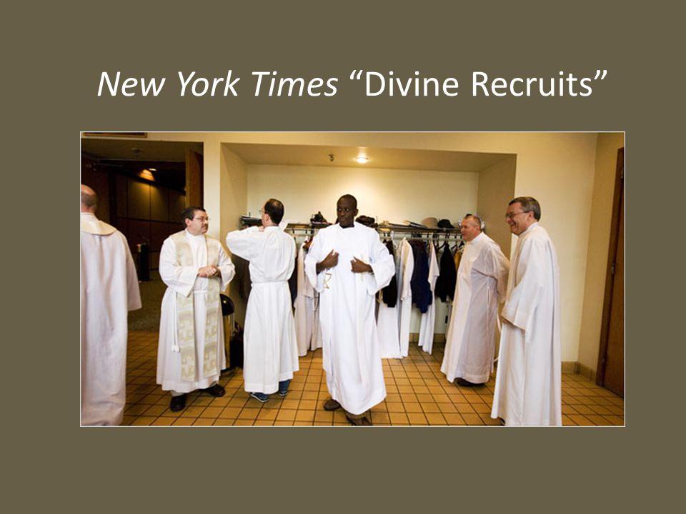 "New York Times ""Divine Recruits"""