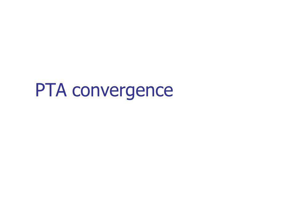 PTA convergence