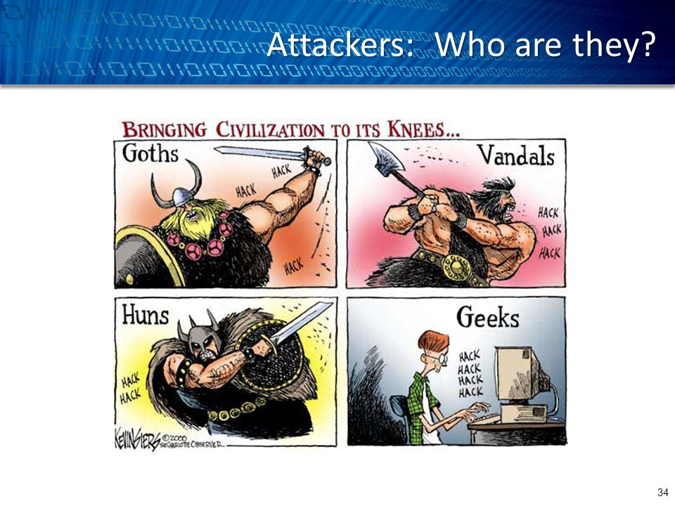Attackers: Who are they 34