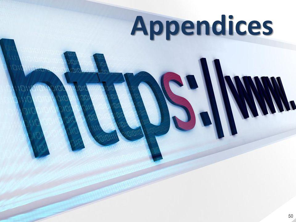 Appendices 50