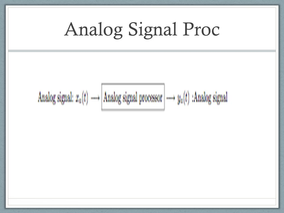 Digital Signal Proc They can also be processed using digital hardware containing adders, multipliers, and logic elements or using special-purpose microprocessors.