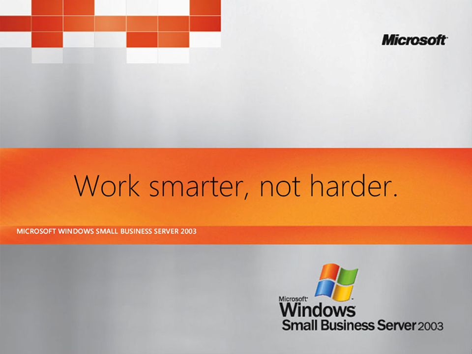 Windows SharePoint Services v3.0 on SBS 2003 – what you can do Comparison at http://www.microsoft.com/technet/windowsserver/sharepoint/techref/versions.mspx http://www.microsoft.com/technet/windowsserver/sharepoint/techref/versions.mspx Everything in WSS v3 – improved, plus: Recycle Bin Blogs Wikis Office 2007 native integration (eg 2 way calendars) People information Offline working RSS feeds from lists Finer access controls Workflow Search without SQL Server