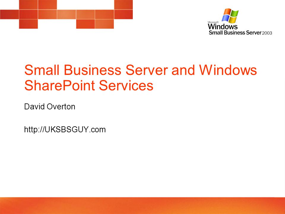 Windows SharePoint Services v3.0 on SBS 2003 – what you can't do Replace http://companyweb (you can NOT replace)http://companyweb The integration of incoming e-mail with Windows SharePoint Services 3.0 does not work If you moved the Windows SharePoint Services 2.0 databases from WMSDE to SQL Server 2000 or to SQL Server 2005, Windows SharePoint Services 3.0 Search does not function after you install Windows SharePoint Services 3.0.