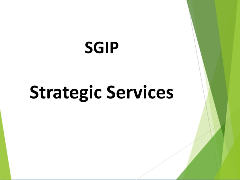 SGIP Strategic Services
