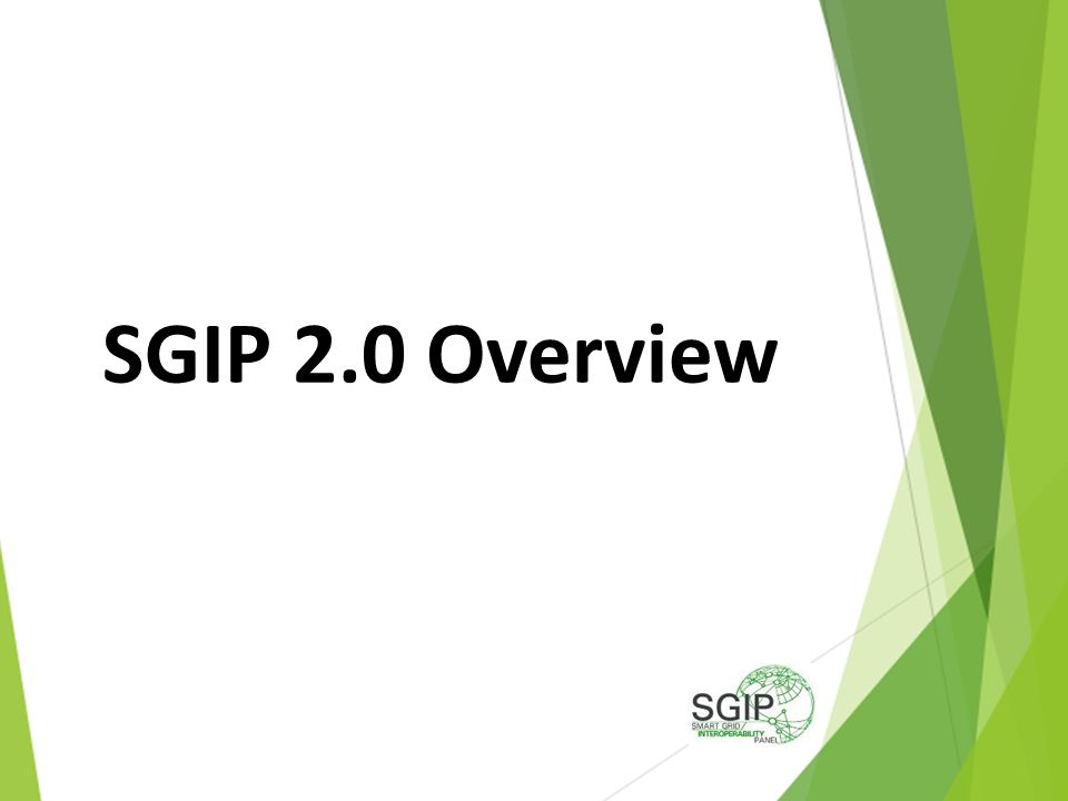 SGIP 2.0 Overview