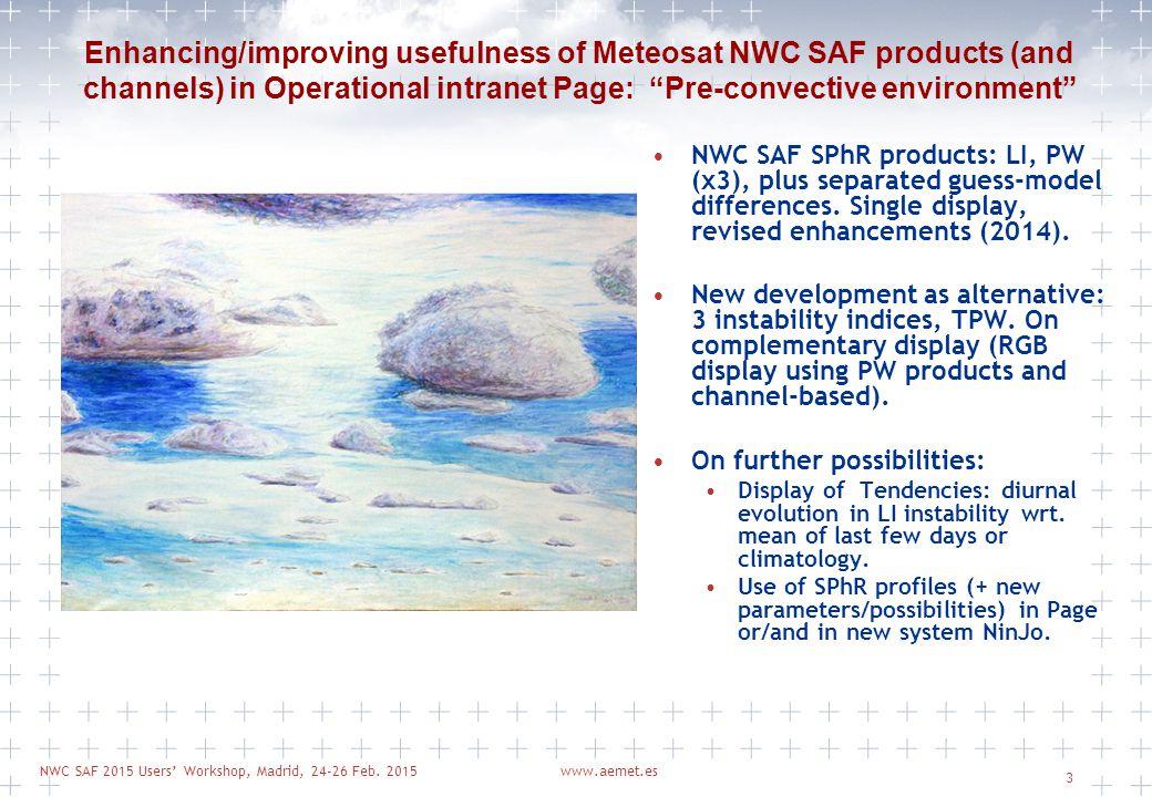 NWC SAF 2015 Users' Workshop, Madrid, 24-26 Feb.